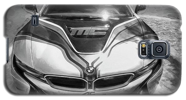 Galaxy S5 Case featuring the photograph 2015 Bmw I8 Hybrid Sports Car Bw by Rich Franco