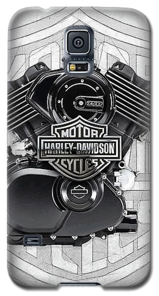 Galaxy S5 Case featuring the digital art 2015 Harley-davidson Street-xg750 Engine With 3d Badge  by Serge Averbukh
