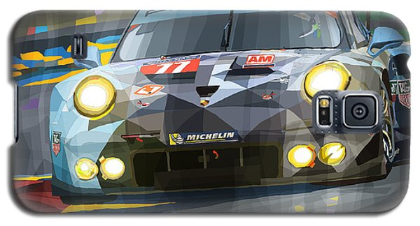Car Galaxy S5 Case - 2015 Le Mans Gte-am Porsche 911 Rsr by Yuriy Shevchuk