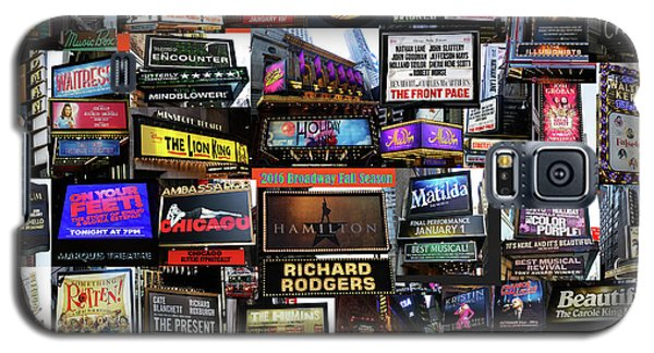 Galaxy S5 Case featuring the photograph 2016 Broadway Fall Collage by Steven Spak