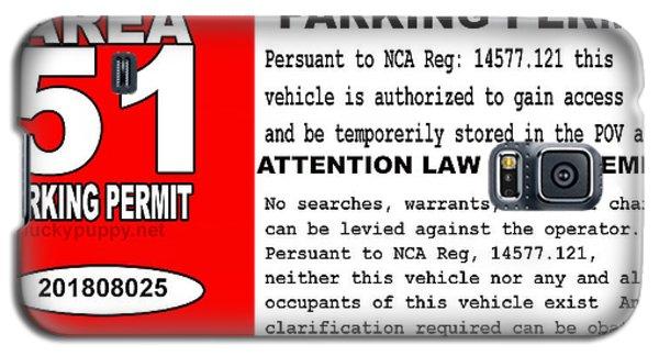 2018 Area 51 Parking Permit Galaxy S5 Case