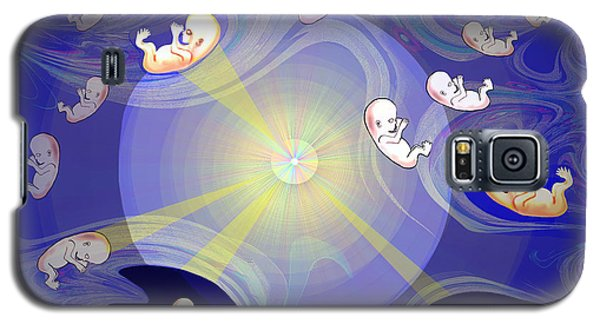 Galaxy S5 Case featuring the digital art 2041 - The Beginning 2017 by Irmgard Schoendorf Welch