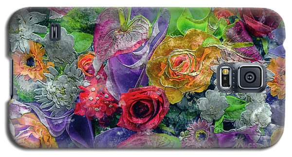 21a Abstract Floral Painting Digital Expressionism Galaxy S5 Case