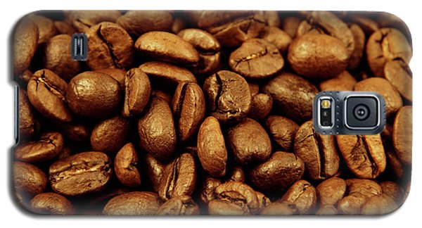 Galaxy S5 Case featuring the photograph Coffee Beans by Les Cunliffe