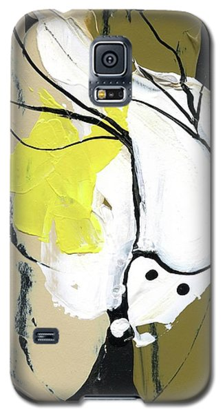 Galaxy S5 Case featuring the painting Three Color Palette by Michal Mitak Mahgerefteh