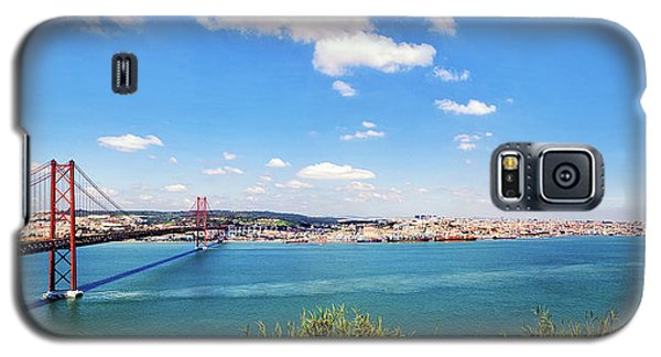 Galaxy S5 Case featuring the photograph 25th April Bridge Lisbon by Marion McCristall