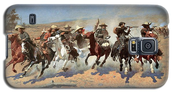 A Dash For The Timber Galaxy S5 Case by Frederic Remington