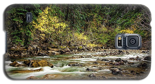 Galaxy S5 Case featuring the photograph Autumn Stream by Andrew Soundarajan