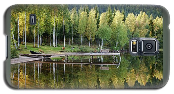 Birches And Reflection Galaxy S5 Case