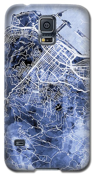 Town Galaxy S5 Case - Cape Town South Africa City Street Map by Michael Tompsett