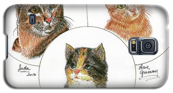 3 Cats For Juda Galaxy S5 Case
