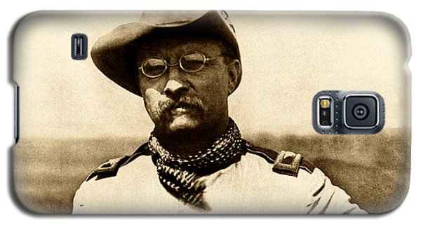 Galaxy S5 Case featuring the photograph Colonel Theodore Roosevelt by War Is Hell Store