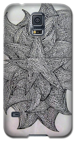 Galaxy S5 Case featuring the drawing 3 D Sketch by Barbara Yearty