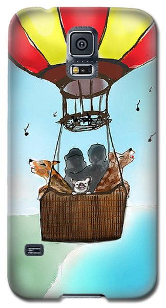 3 Dogs Singing In A Hot Air Balloon Galaxy S5 Case