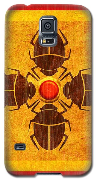 Galaxy S5 Case featuring the digital art Egyptian Scarab Beetle by John Wills