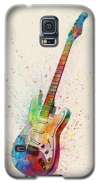 Electric Guitar Abstract Watercolor Galaxy S5 Case