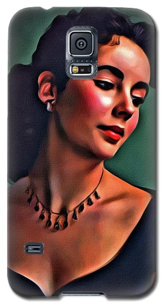 Elizabeth Taylor, Vintage Hollywood Legend By Mary Bassett Galaxy S5 Case