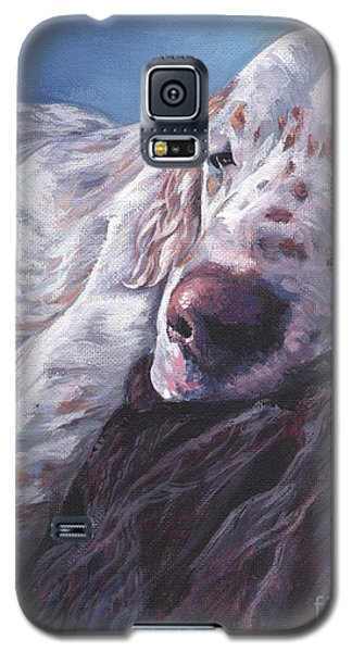 Galaxy S5 Case featuring the painting English Setter by Lee Ann Shepard