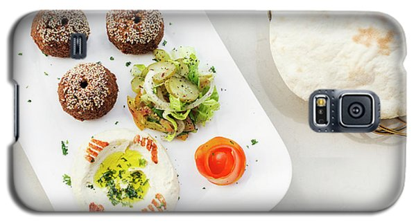 Falafel Hummus Houmus Starter Snack Food Mezze Platter Galaxy S5 Case