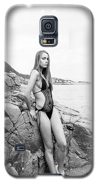 Girl In Black Swimsuit Galaxy S5 Case