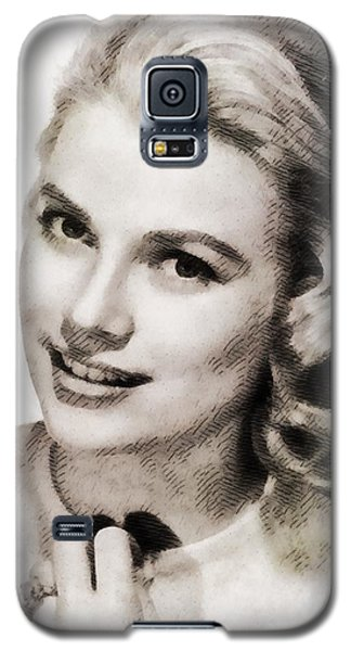 Grace Kelly, Vintage Hollywood Actress Galaxy S5 Case by John Springfield