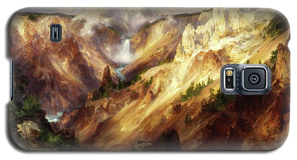 Galaxy S5 Case featuring the painting Grand Canyon Of The Yellowstone by Thomas Moran