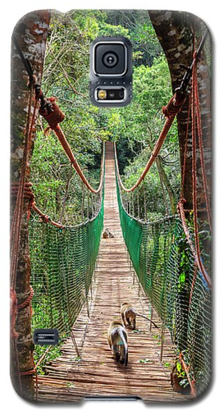 Galaxy S5 Case featuring the photograph Hanging Bridge by Alexey Stiop