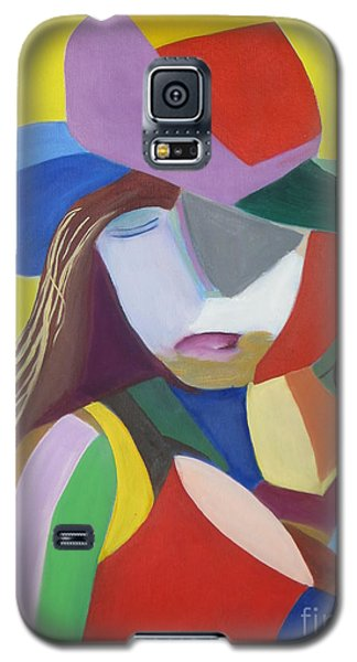 Galaxy S5 Case featuring the painting Hat by Patricia Cleasby
