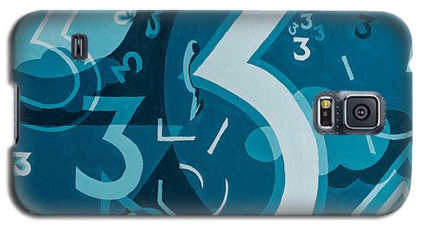 3 In Blue Galaxy S5 Case