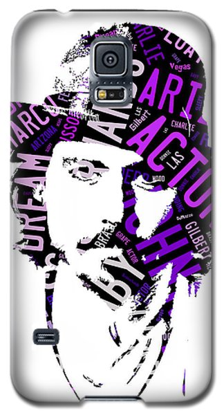 Johnny Depp Movie Titles Galaxy S5 Case by Marvin Blaine