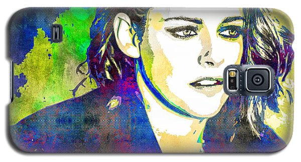 Galaxy S5 Case featuring the mixed media Kristen Stewart by Svelby Art