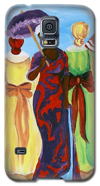 Galaxy S5 Case featuring the painting 3 Ladies by Diane Britton Dunham