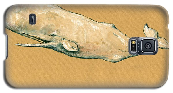 Moby Dick The White Sperm Whale  Galaxy S5 Case by Juan  Bosco