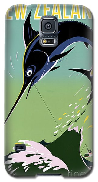 New Zealand Vintage Travel Poster Restored Galaxy S5 Case