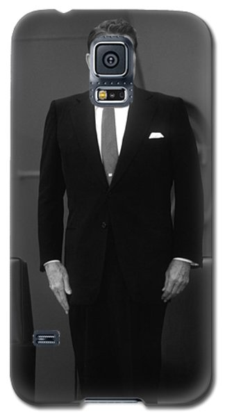 Galaxy S5 Case featuring the photograph President Ronald Reagan by War Is Hell Store