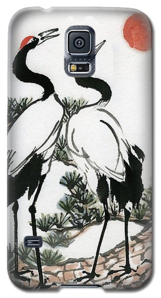 Red Crowned Crane Galaxy S5 Case