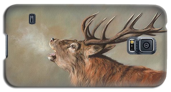 Galaxy S5 Case featuring the painting Red Deer Stag by David Stribbling