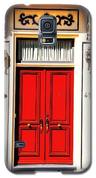 Red Door Galaxy S5 Case by Rick Bragan