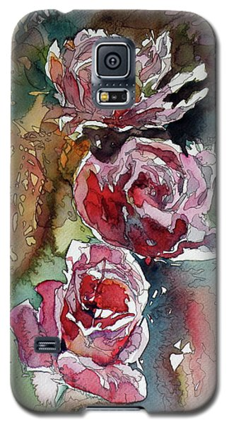 Galaxy S5 Case featuring the painting Roses by Kovacs Anna Brigitta