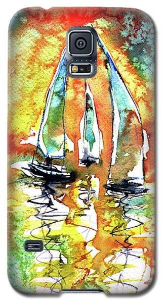 Sailboats Galaxy S5 Case by Kovacs Anna Brigitta