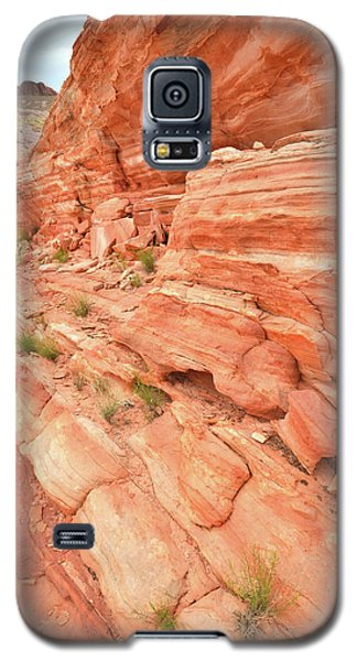 Galaxy S5 Case featuring the photograph Sandstone Wall In Valley Of Fire by Ray Mathis