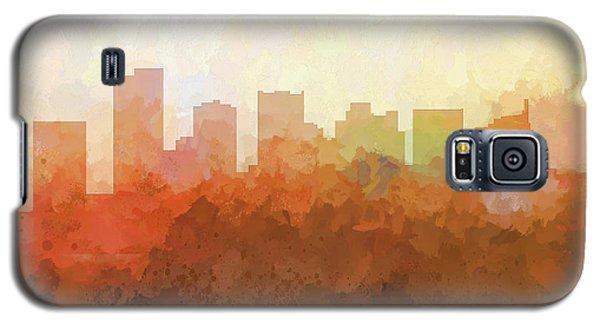 Galaxy S5 Case featuring the digital art Scottsdale Arizona Skyline by Marlene Watson