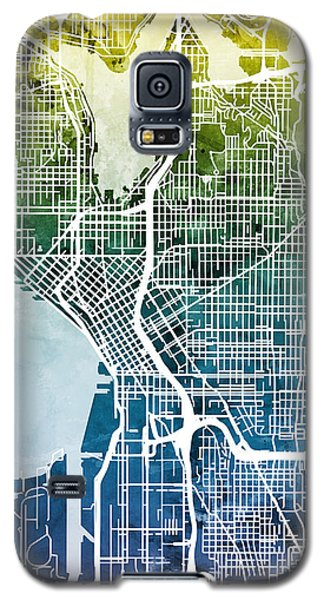 Seattle Washington Street Map Galaxy S5 Case