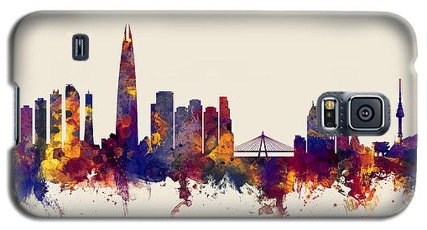 Galaxy S5 Case featuring the digital art Seoul Skyline South Korea by Michael Tompsett