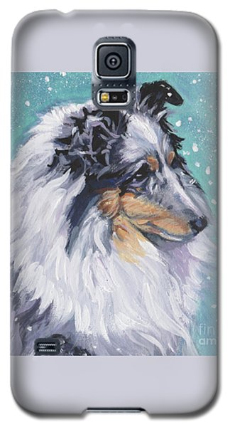 Galaxy S5 Case featuring the painting Shetland Sheepdog by Lee Ann Shepard