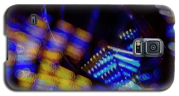 Galaxy S5 Case featuring the photograph Singapore Night Urban City Light - Series - Your Singapore by Urft Valley Art