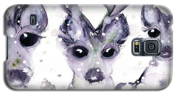 Galaxy S5 Case featuring the painting 3 Snowy Deer by Dawn Derman
