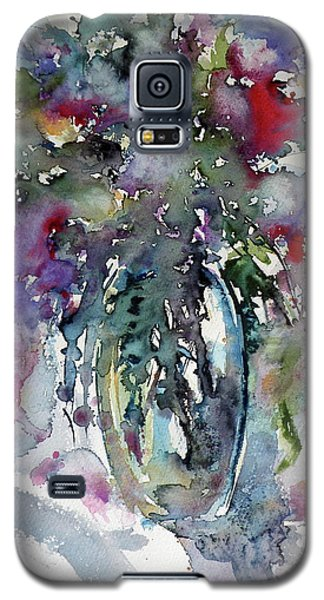 Galaxy S5 Case featuring the painting Still Life by Kovacs Anna Brigitta
