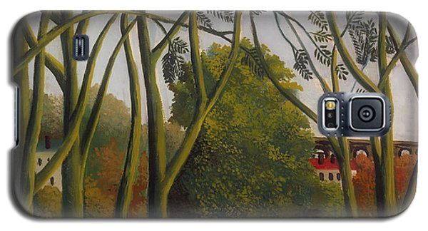 Galaxy S5 Case featuring the painting The Banks Of The Bievre Near Bicetre by Henri Rousseau