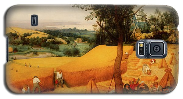 Galaxy S5 Case featuring the painting The Harvesters by Pieter Bruegel The Elder